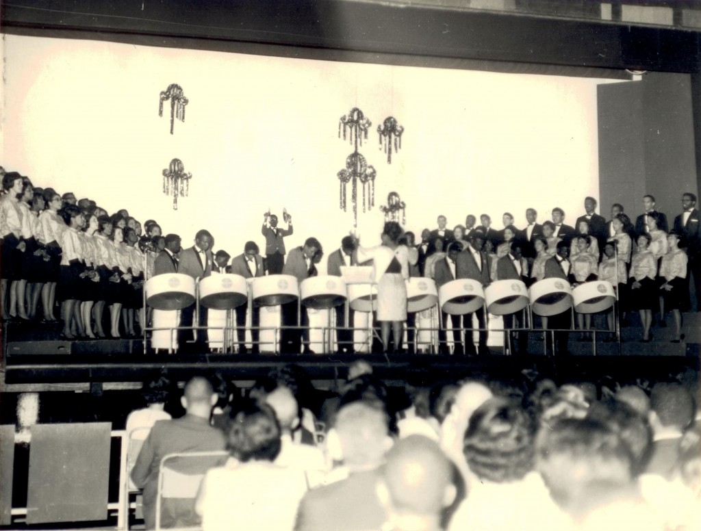 Marionettes and Pan-Am Jet North Stars at Queen's Hall in 1966, conducted by co-founder Jocelyn Pierre