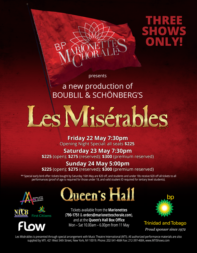 Marionettes Les Miserables flyer 2015