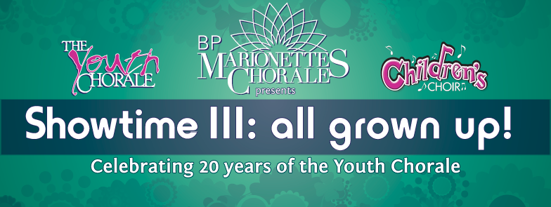 Marionettes Showtime III Celebrating 20 Years of the Youth Chorale