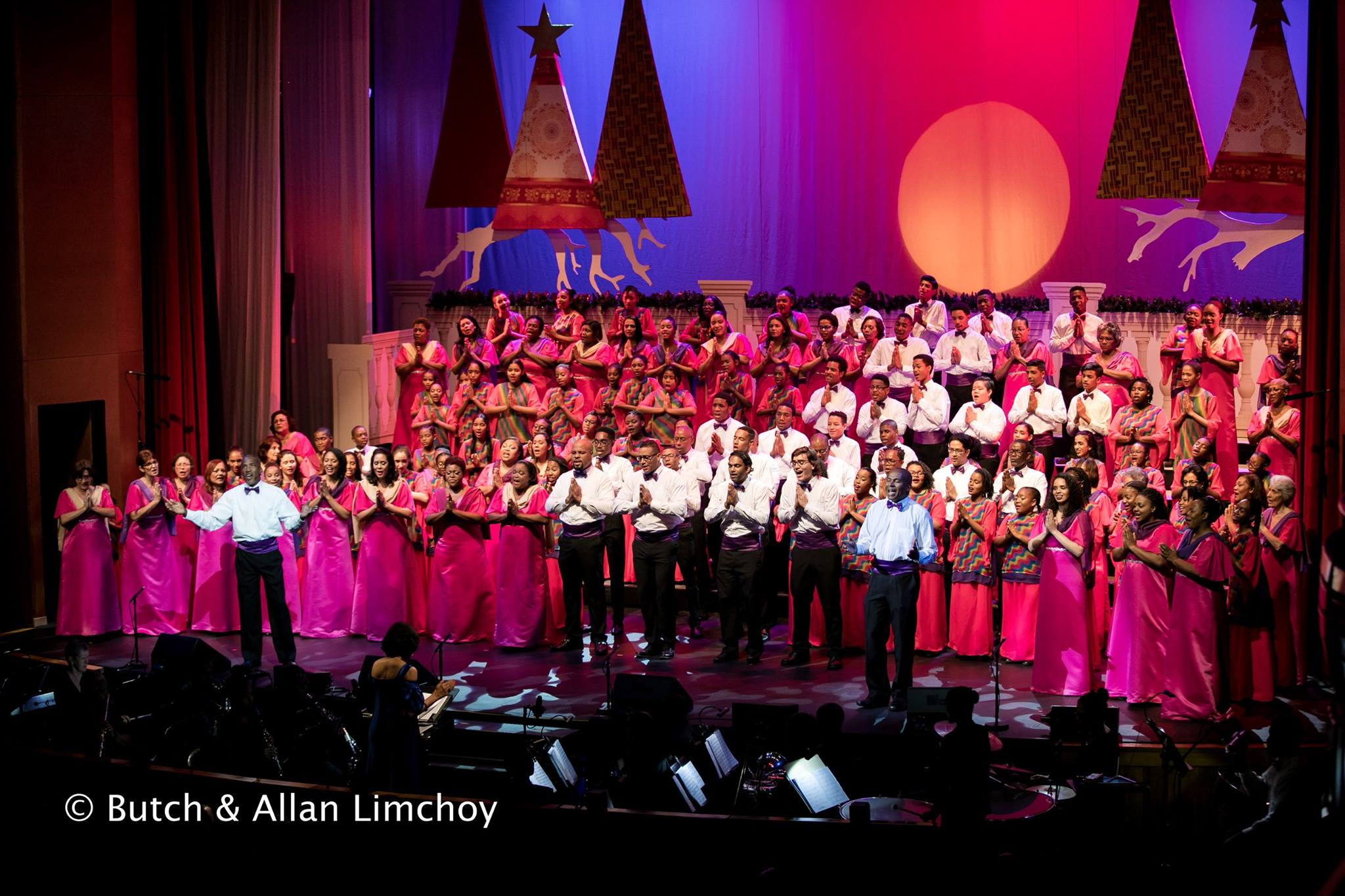 "The Marionettes Chorale performs Christopher Tin's ""Baba Yetu"" at Christmas with the Marionettes, Queen's Hall, Trinidad in 2017"
