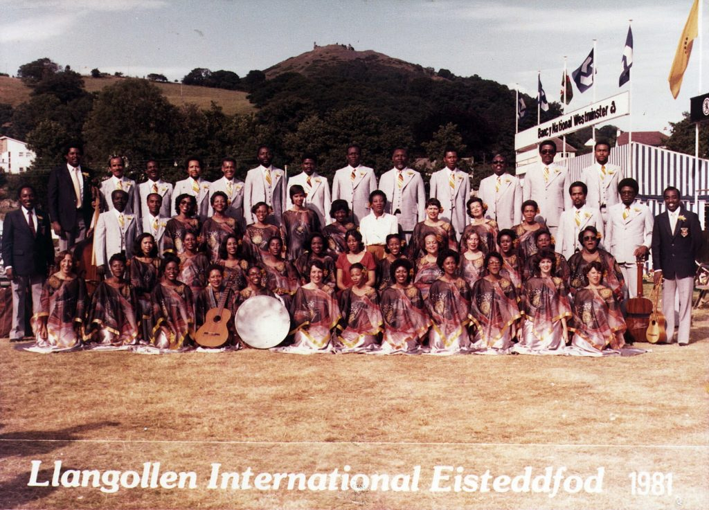 The Marionettes at the Llangolen International Choral Eisteddfod in 1981